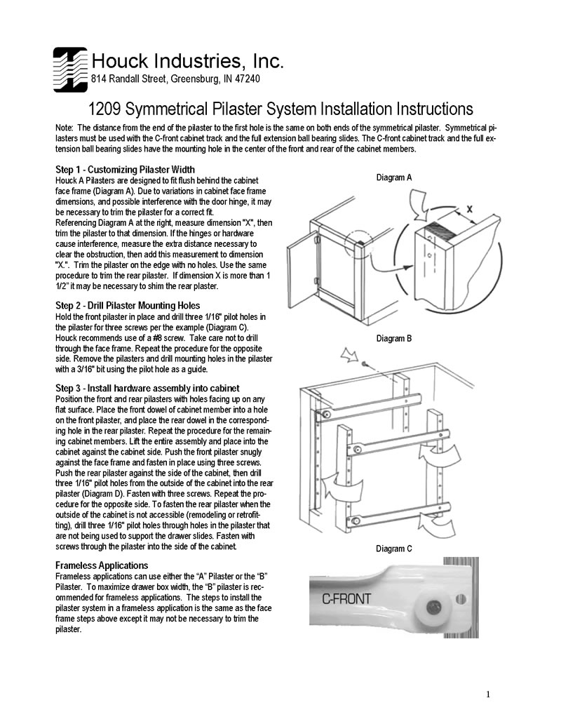 Pilaster Installation Instructions
